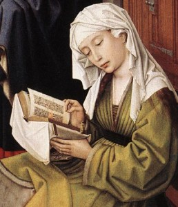 Magdalen Reading, detail from van der Weyden