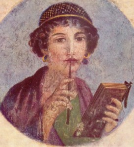 Woman writer, Pompeii