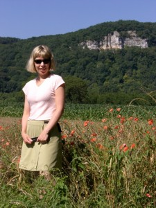 Lisa in field of poppies