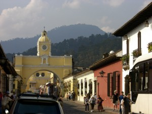 Downtown Antigua, and the famous archway.