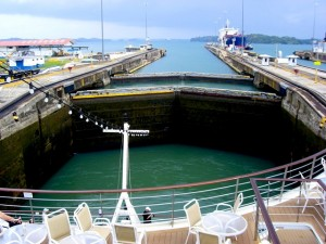 Panama Canal locks.