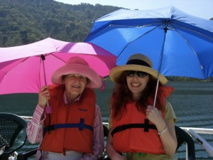 Lisa and Neola, parasols