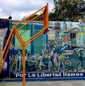 Leon, Nicaragua, basketball court