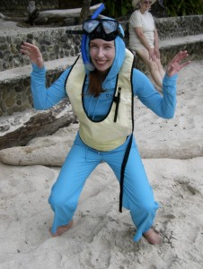 Lisa in snorkel gear