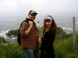 Clark and Lisa on Salal Hill