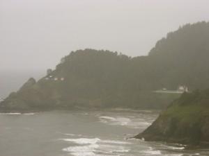 misty headland