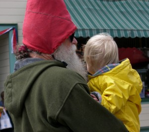gnome and toddler