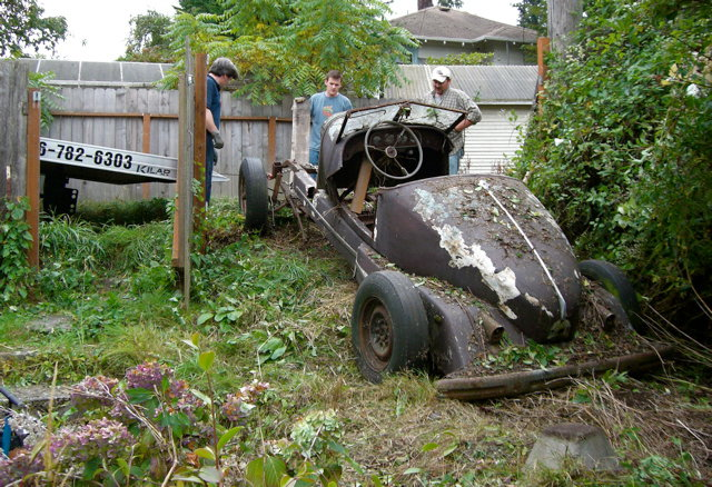 speedster pulled from weeds
