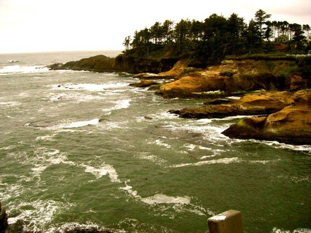 rocky ocean cove