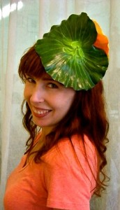 waterlily on head