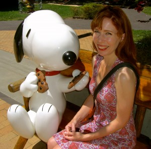 Snoopy the cookie-pusher.