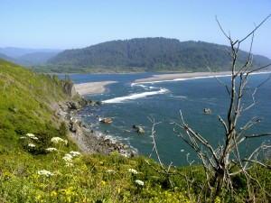 The mouth of the Klamath River. We could hear sea lions barking, but couldn't spot them.