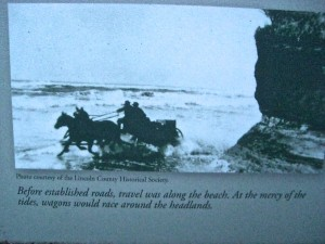 They used to use the beaches as their road, which meant racing the tides around the headlands.