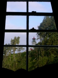 The view from our bed. It looks harmless in daylight.