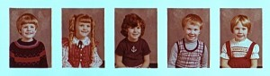Kindergarten -- That's Kirk on the far left, me on the far right.